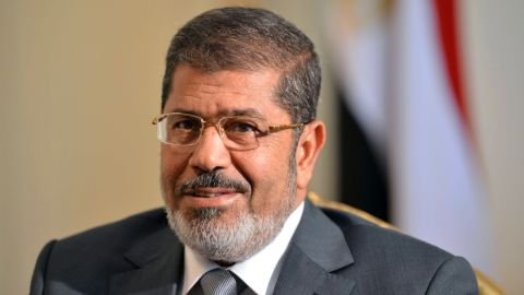 Egyptian President Mohamed Morsy looks on as he meets with US deputy secretary of State William Burns (not seen) in Cairo on July 8, 2012.