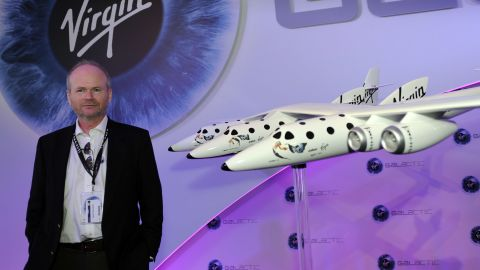 Virgin Galactic test pilot David Mackay was also present at the announcement at Farnborough on Wednesday.