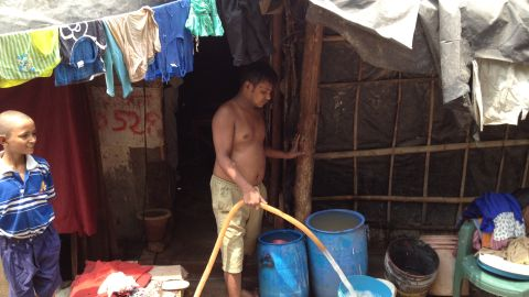 Other areas get their water from a communal water tap -- but local residents are concerned about sanitation.