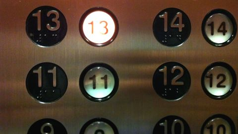 Oh look, an elevator that's not afraid to stop on 13