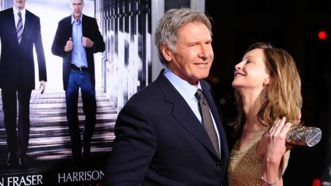 """Ford and Flockhart arrive at the premiere of """"Extraordinary Measures"""" in 2010."""