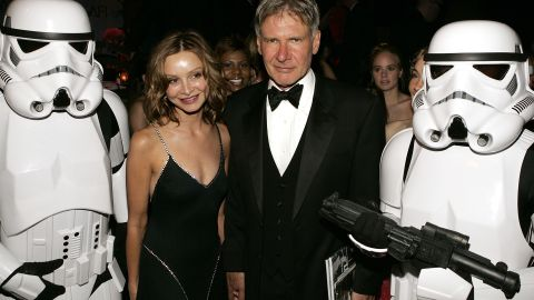 Ford and actress Calista Flockhart at a Hollywood party in 2005; the two married in 2010.