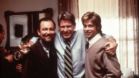 """From left, Ruben Blades, Ford and Brad Pitt appear in """"The Devil's Own"""" in 1997."""