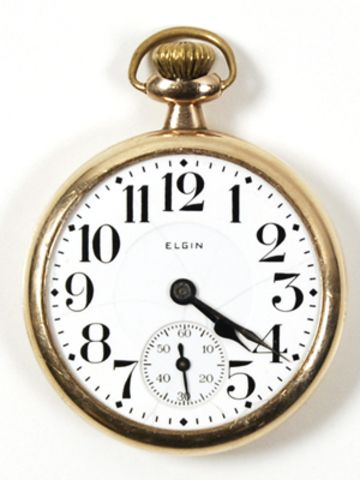 Clyde Barrow was wearing this pocket watch when he was shot.