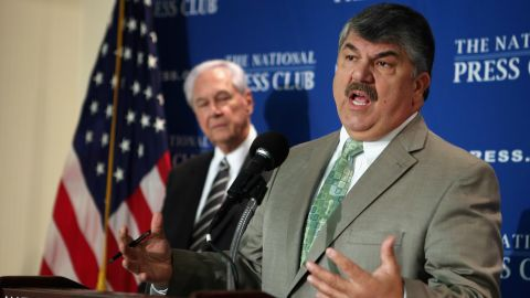 AFL-CIO President Richard Trumka announces the Workers Stand for America campaign and rally, planned for August 11.