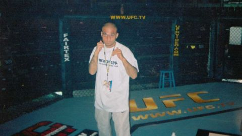 Usman Raja in his cage-fighting days when he rose to become one of the UK's most renowned fighters.