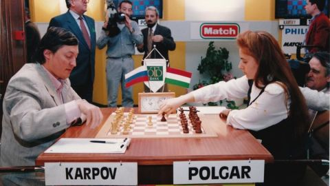 Kasparov defeated Anatoly Karpov in 1985 to become the youngest ever World Chess Champions at the age of 22. Karpov had been world champion for a decade, stretching back to 1975.