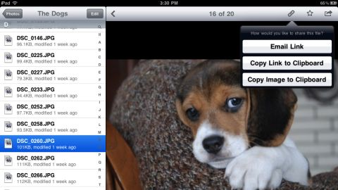 Users can upload photos and other documents to Dropbox and access them from all of their computing devices.