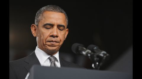 President Obama speaks on the shootings at a July 20, 2012, event in Fort Myers, Florida.