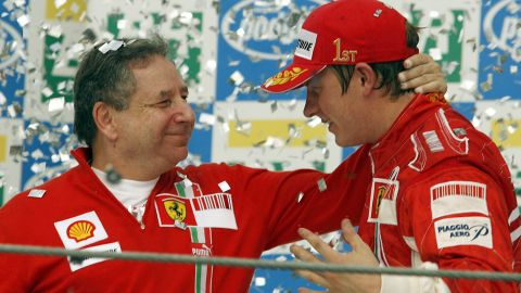 Jean Todt, left, presided over Ferrari's last world drivers' title when Kimi Raikkonen triumphed in 2007.