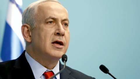 """Israeli Prime Minister Benjamin Netanyahu delivers a statement following the Bulgaria bus bombing. Netanyahu said: """"Yesterday's attack in Bulgaria was perpetrated by Hezbollah, Iran's leading terrorist proxy."""" Israel's U.S. Embassy said Wednesday that it had no proof that Iran was the instigator of the attack."""