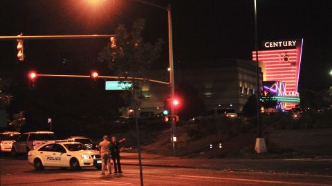 Police block access to the Town Center mall after the shooting.