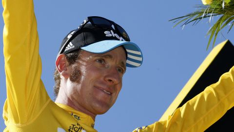 Bradley Wiggins wins the 2012 Tour de France in an historic first for a British rider.