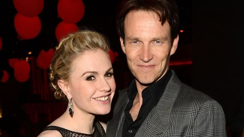 """Anna Paquin celebrated LGBT Pride Month in June 2014 by <a href=""""https://twitter.com/AnnaPaquin/with_replies"""" target=""""_blank"""" target=""""_blank"""">proudly declaring her status</a> as a """"happily married bisexual mother."""" The """"True Blood"""" actress has been wed to her co-star Stephen Moyer, right, since 2010, <a href=""""http://marquee.blogs.cnn.com/2010/04/01/anna-paquin-comes-out-as-a-bisexual/?iref=allsearch"""" target=""""_blank"""">the same year she initially shared her sexual orientation with the public</a>. """"Marriage is about love,"""" Paquin tweeted on June 8, """"not gender."""""""