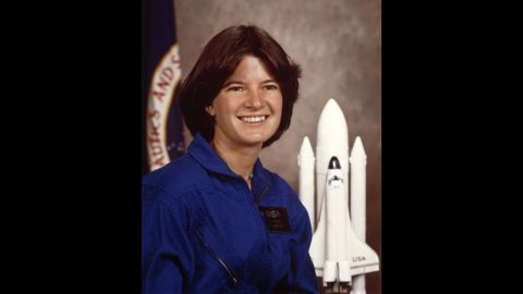 """Ride's official NASA portrait in January 1983. During a 2008 interview with CNN, Ride recalled how the trip to space gave her a new perspective on Earth: """"You can't get it just standing on the ground, with your feet firmly planted on Earth. You can only get it from space, and it's just remarkable how beautiful our planet is and how fragile it looks."""""""