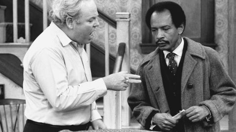 """Carroll O'Connor stars as Archie Bunker and Sherman Hemsley as George Jefferson, in the """"Pay the Twenty Dollars"""" episode of the CBS television series """"All In The Family."""""""