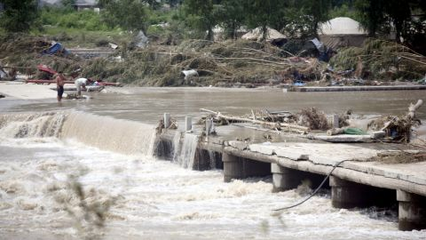 """In 2012, a bridge leading to the town of Laishui, in northern China's Hebei province, just north of capital Beijing, collapsed. Floods in Beijing caused """"significant losses."""""""