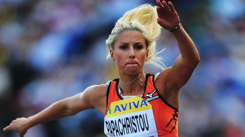 Greek triple jumper Paraskevi Papachristou was banned from the 2012 London Olympics and suspended from her country's Olympic team for an offensive post on Twitter.