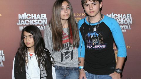 Blanket Jackson, Paris Jackson and Prince Jackson attend the Los Angeles premiere of Michael Jackson 'THE IMMORTAL' World Tour at Staples Center on January 27, 2012 in Los Angeles, California