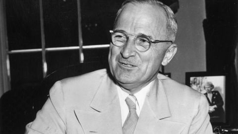 """President Harry Truman was a <a href=""""http://www.whitehousemuseum.org/grounds/horseshoe-pitch.htm"""" target=""""_blank"""" target=""""_blank"""">big fan of playing horseshoes</a> -- he even had a pitch installed outside the Oval Office. <a href=""""http://bit.ly/1OH6Jui"""" target=""""_blank"""" target=""""_blank"""">Truman took it a step further by</a> having a horseshoe mounted above the door to his office for good luck."""