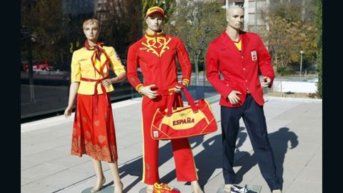 """The uniforms that Russian designer Bosco Sport created for Spain's Olympians are so dreadful that the athletes have taken to social media to express their displeasure. Hockey player Alex Fabregas uploaded a picture of himself clad in his new gear with the caption: """"Olympic kit ... there are no adjectives."""""""