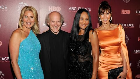 """Kim Alexis, Timothy Greenfield-Sanders, Beverly Johnson and Carol Alt at the """"About Face"""" New York premiere."""