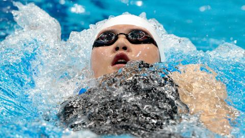 Shiwen Ye of China competes in heat 5 of the Women's 200m Individual Medley in London 2012 Olympic Games, July 30.