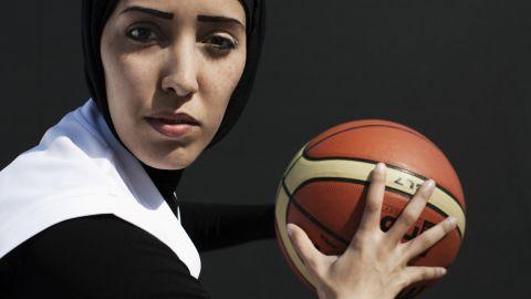 Qatari basketball player Amal Mohammad Awad.