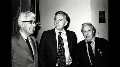 Barry Commoner, from left, Vidal and Studs Terkel in 1980. In his later years, Vidal often appeared on the TV talk-show circuit, going head-to-head against those with opposing views.