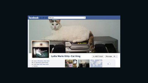 Facebook profiles for non-humans, such as companies or pets, violate the social network's terms of service.