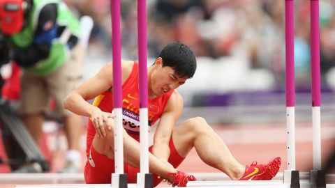 A longstanding Achilles injury forced Liu Xiang, a former world-record holder and Olympic champion in the 110-meter hurdles, to retire.
