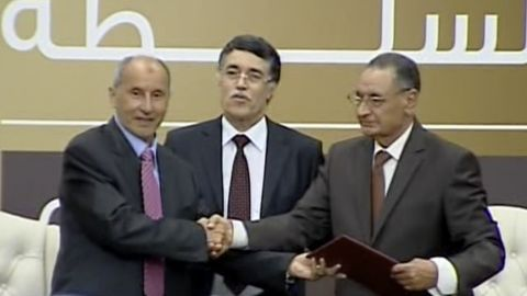 Libya will see the first peaceful transition of power in decades as the interim NTC govt hands over its power.