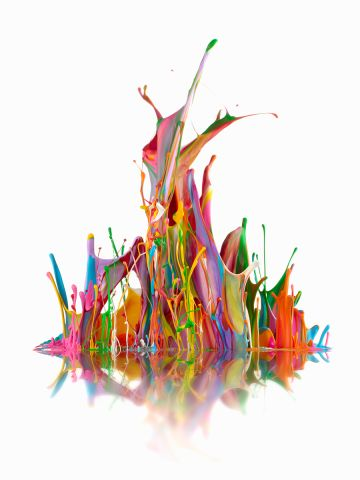 """Don Farrall's image was also a winning entry in the competition. """"These 'Sound Sculptures' exist for a fraction of a second; they are created as paint is propelled by sound waves,"""" he said. """"Variations in the viscosity and the pattern of the paint, along with variations in the frequencies used to put the paint in motion, produce unique images that exhibit a natural balance."""""""