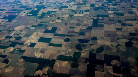 """iReporter Marie Sager took this photo on a flight between Los Angeles and Providence, Rhode Island. """"I had been cat napping and when I woke up, I thought I was looking at a piece of art."""""""