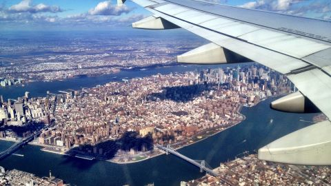 """""""I love NYC and miss it now that I live in the South,"""" writes George Boneillo, who lives in Myrtle Beach, South Carolina. """"It was great seeing my city again from the air."""""""