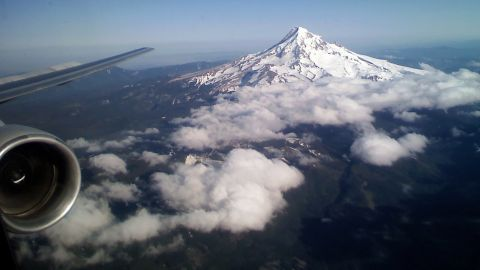"""Joseph Rogge got this great shot of Mount Hood on a flight into Portland, Oregon. """"There is much beauty in the world, sometimes you see it from unexpected perspectives."""""""