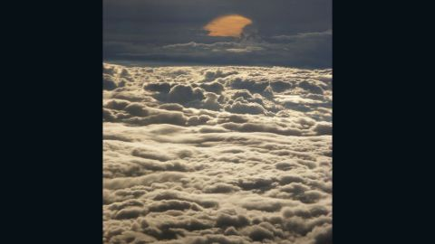 """Nancy Bautista took this serene photo during a flight from Fort Lauderdale, Florida, to California. """"Looking out of a window during a flight influences my mood most definitely. It just relaxes me."""""""