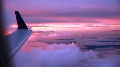 """Nervous flier Rosa Mangin took this gorgeous sunset shot during a flight from Memphis, Tennessee, to Tupelo, Mississippi. """"Staring at the beauty of the clouds that night, I could not help but think how much of life I would miss out on if I let my fear of flying overcome me."""""""