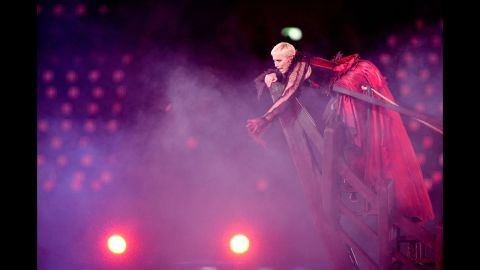 Annie Lennox performs during the closing ceremony.