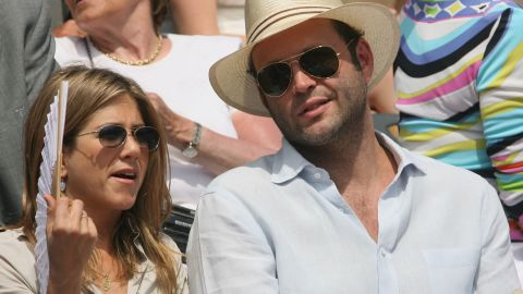 """Real-life couple Vince Vaughn and Aniston co-starred in 2006's """"The Break-Up,"""" which is coincidentally what the couple did later that year."""