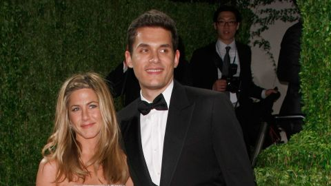 """John Mayer and Aniston, pictured here in 2009, dated on and off for about a year. Though his <a href=""""http://marquee.blogs.cnn.com/2012/05/22/john-mayer-says-his-shadow-days-are-over/"""" target=""""_blank"""">""""Shadow Days"""" are over</a> now, in 2010 Mayer opened up to <a href=""""http://www.rollingstone.com/music/news/john-mayers-dirty-mind-lonely-heart-new-issue-of-rolling-stone-20100119"""" target=""""_blank"""" target=""""_blank"""">Rolling Stone</a> about his split with Aniston, saying, """"I've never really gotten over it. It was one of the worst times of my life."""""""