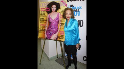 Gurley Brown attends the fifth annual Cosmo Fun Fearless Female Awards luncheon in 2001 at the Metropolitan Pavilion in New York.