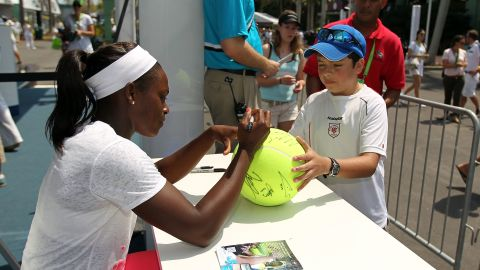 """According to Jeff Newman, tournament director at the Citi Open in Washington D.C., Stephens has the """"it"""" factor. """"She resonates with the fans and has a great personality,"""" Newman says."""