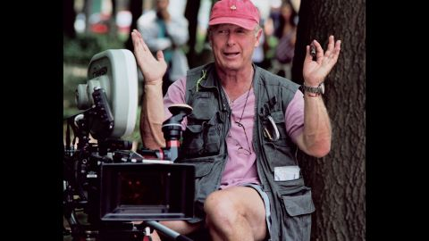 """British-born director Scott on the set of his film """"Man on Fire"""" in Mexico City in 2003."""