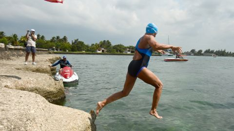 After jumping into the waters off Havana on Saturday afternoon -- a day earlier than originally planned -- Nyad had swum nearly 28 statute miles as of Sunday evening, putting in 50 strokes a minute, her blog reported.