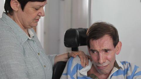 Tony Nicklinson and wife Jane on August 16, 2012 in Melksham, England.