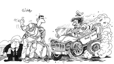 Ali Ferzat was the cartoonist for an official Syrian newspaper during the 1970s, and had personal lines of communication with Assad before falling foul of the regime.
