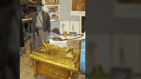 """The """"Ark of the Covenant"""" -- nothing else comes close. Here's the raider's iconic costume and his most famous discovery  from his first adventure, 1981's """"Raiders of the Lost Ark."""""""
