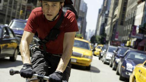 "Joseph Gordon-Levitt races through the streets of Manhattan as Wilee in ""Premium Rush."""