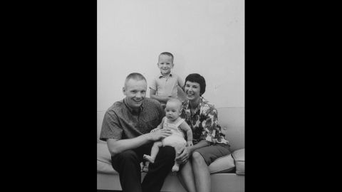 Astronaut Neil Armstrong, commander of Apollo 11 Lunar Landing Mission, with his family on August 26, 1963.